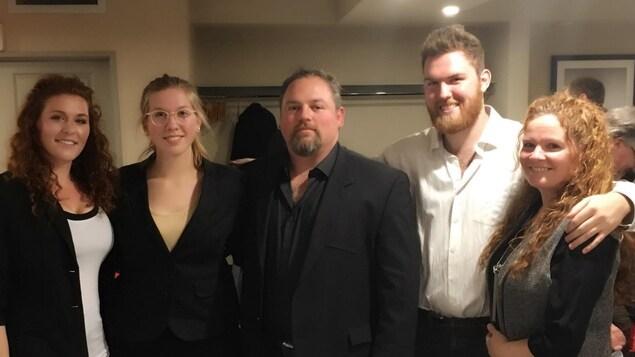 Patrick Dupuis et sa famille, propriétaires de la fromagerie Old Cheese Factory.