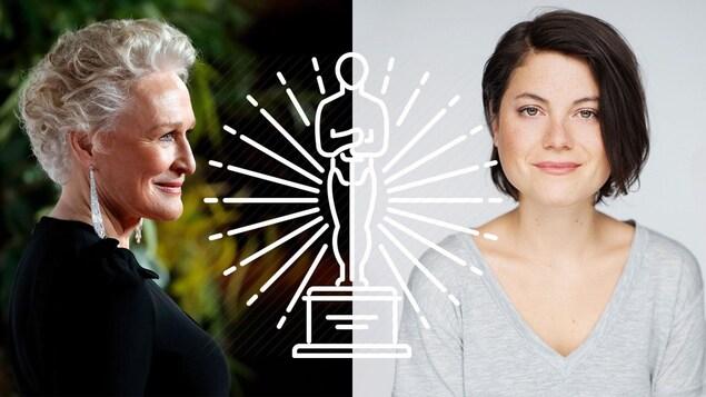 À gauche : Glenn Close. À droite : Julianne Côté.