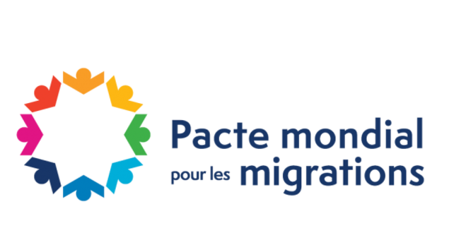 Logo sur le Pacte mondial pour les migrations