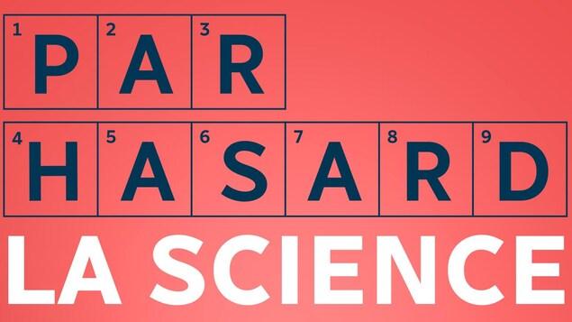 Dessin d'un cerveau avec le libellé « Par hasard la science » et le logo d'ICI Première.
