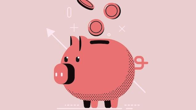 Illustration d'un cochon tirelire.