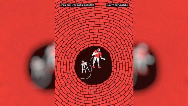 Couverture du livre avec une illustration d'un humoriste qui fait un spectacle.