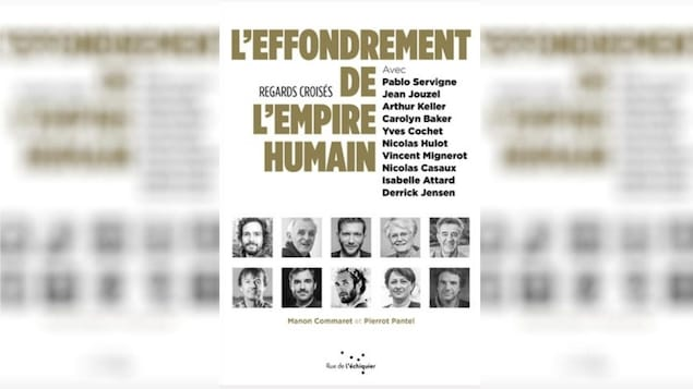 """La couverture du livre """"L'effondrement de l'empire humain : regards croisés"""", de Manon Commaret et Pierrot Pantel, Éditions Rue de l'échiquier, 2020."""
