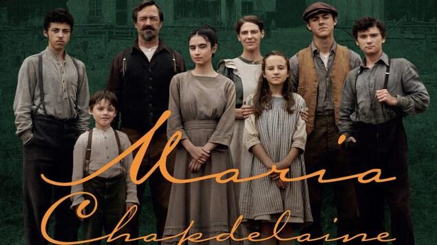 La famille Chapdelaine composée du père, de la mère et des six enfants.