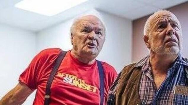 Les deux comédiens lors de répétitions