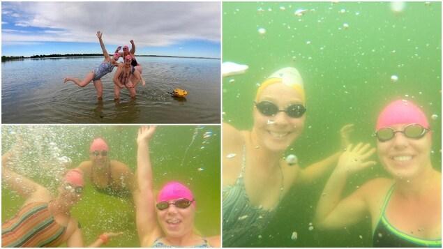 Trop nageuses sous l'eau