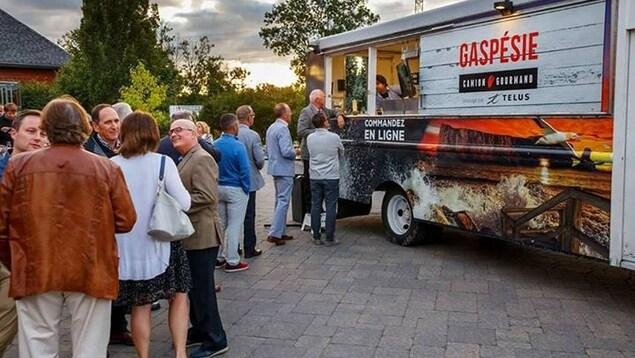 Camion-cuisine le «Gaspésie Camion Gourmand»