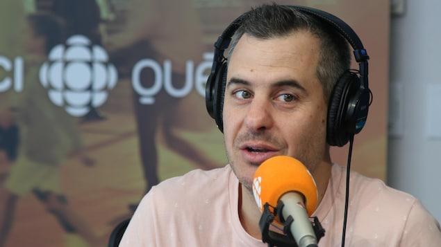 Pierre Hébert, en studio