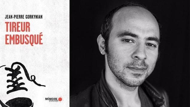Couverture du livre « Tireur embusqué » de Jean-Pierre Gorkynian et photo de l'auteur.