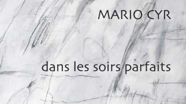 La page couverture d'un livre de Mario Cyr intitulé dans les soirs parfaits.