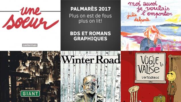 Quelques-unes des meilleures BDS et des meilleurs romans graphiques parus en 2017 selon l'équipe de <em>Plus on est de fous, plus on lit!</em>