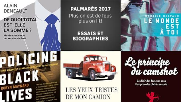 Quelques-uns des meilleurs essais et biographies parus en 2017 selon l'équipe de <em>Plus on est de fous, plus on lit!</em>