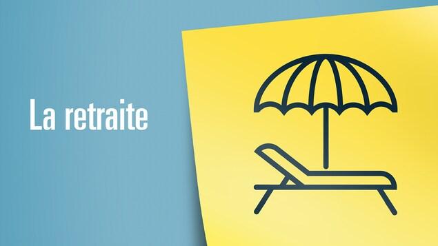 Image représentant la retraite: une chaise longue avec un parasol de plage