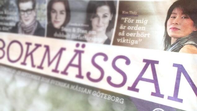 Kim Thúy à la une d'un quotidien suédois