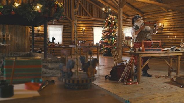 Nicolas Noël dans son atelier.