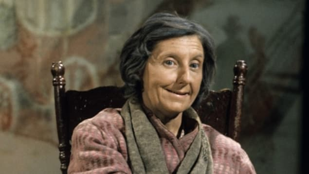 Viola Léger, interprète du rôle de la Sagouine, en 1975