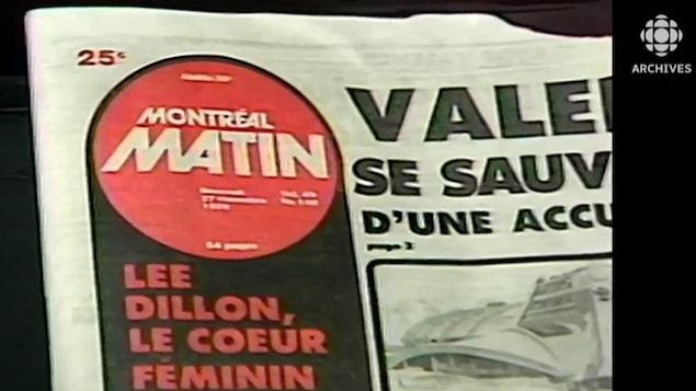 Une page titre du quotidien le Montréal-Matin