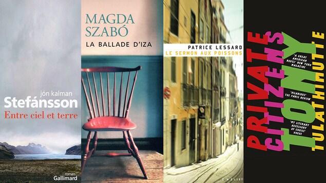 Les couverture de quatre romans.