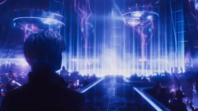 Une scène du film <i>Ready Player One</i>, réalisé par Steven Spielberg.