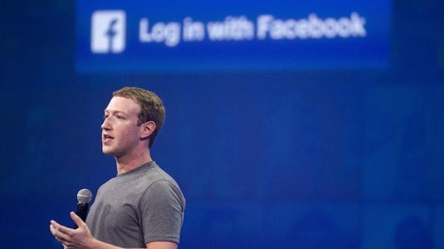 Mark Zuckerberg lors d'une conférence en avril 2017.