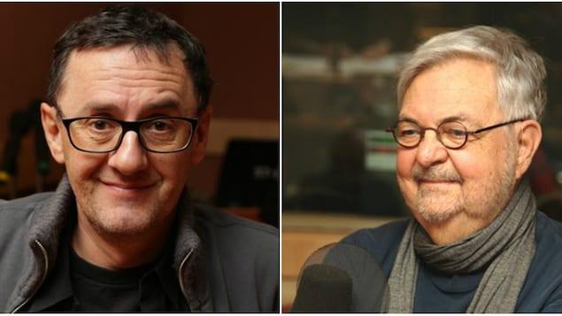 Le metteur en scène René Richard Cyr et le dramaturge Michel Tremblay
