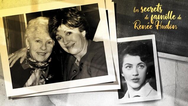 Une première photo d'Irène et Renée posant ensemble et une seconde photo en portrait de Renée jeune.