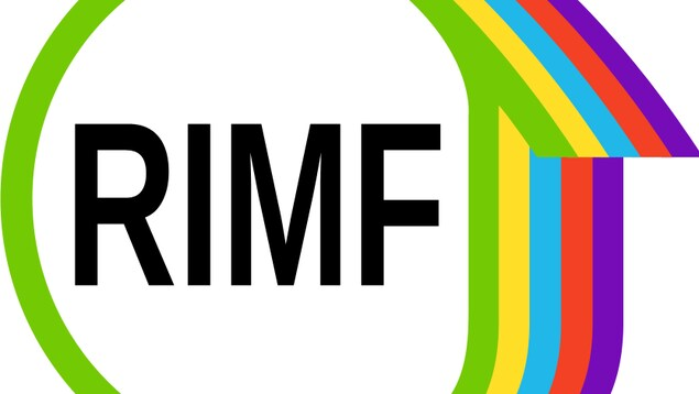 Les lettres RIMF enrobées dans un logo coloré.