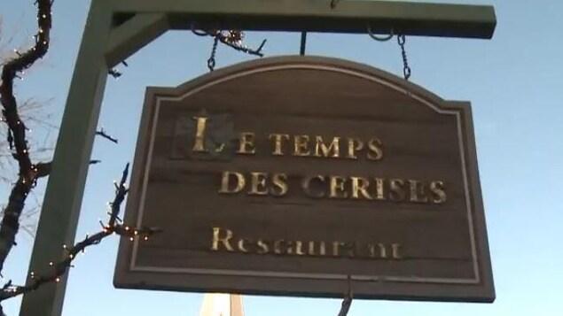 L'affiche du restaurant.