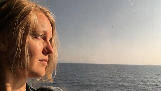 L'autrice originaire de Baie-Comeau, Rosalie Lessard.