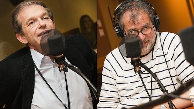 Les médecins Frédéric Saldmann et Martin Winkler débattent au micro de Catherine Perrin.
