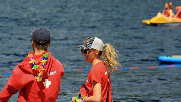 Sauveteurs du lac des rapides à Sept-Îles
