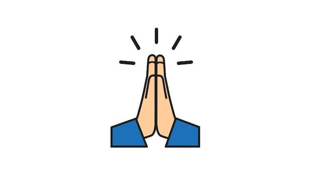 Dessin de deux mains en prière.