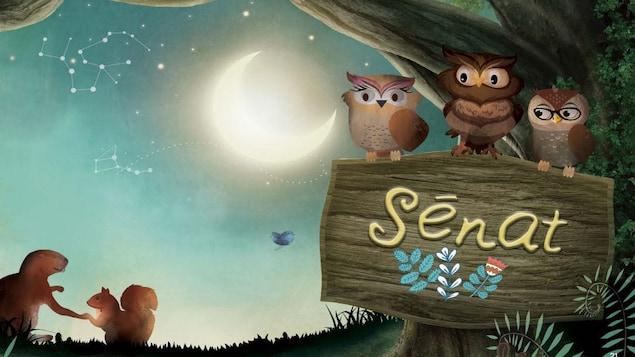 Le livre Les Sages Hiboux explique aux enfants les origines et le travail du Sénat dans la démocratie canadienne.