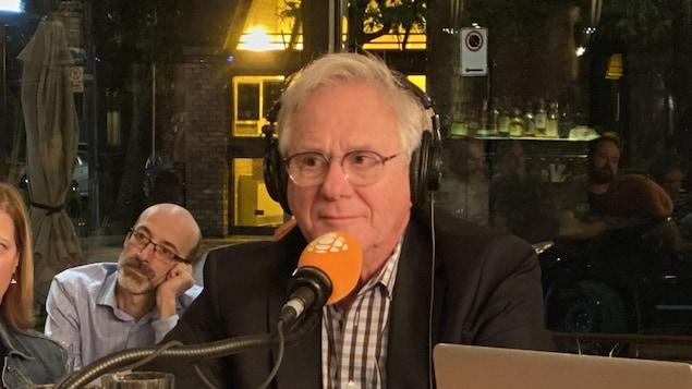 Claude Saucier lors de l'émission.