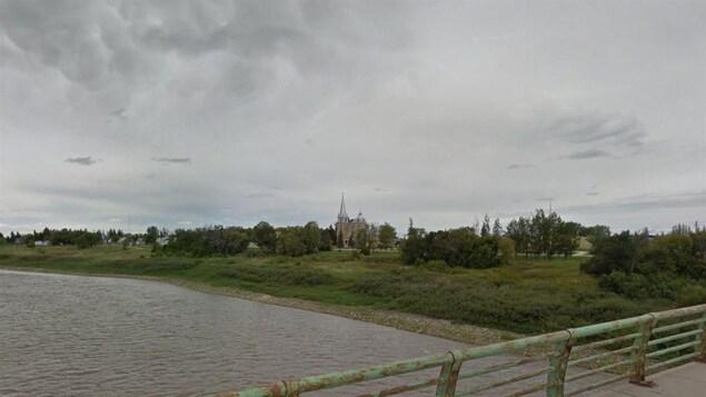 Le village de Sainte-Agathe au Manitoba.