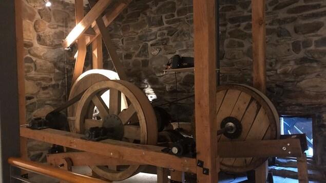Les engrenages du moulin à farine La Lorraine