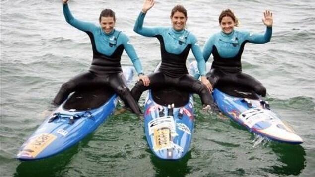 Il y a 10 ans, Geyer-Barneix, Alexandra Lux, Flora Manciet traversaient l'Atlantique en planche de sauvetage.