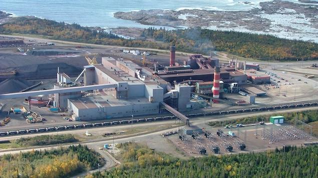 L'usine de bouletage d'ArcelorMittal à Port-Cartier