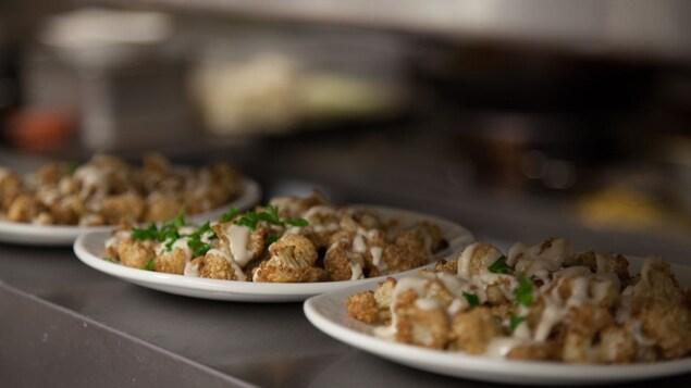 Une assiette de chou-fleur du restaurant Tabülè.