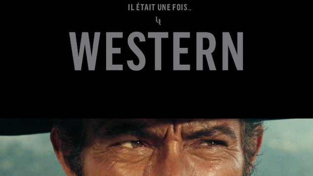 les yeux perçant de john wayne avec un chapeau de cowboy