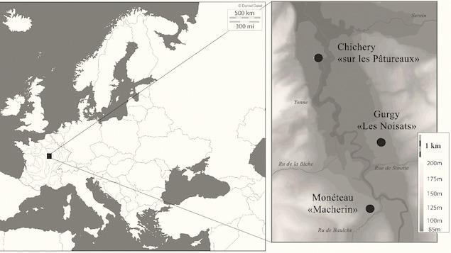 Les trois sites sont situés au sud-est de Paris