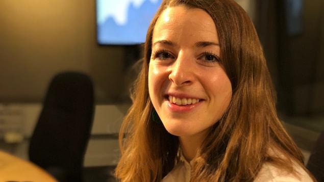 Erin Relyea, travailleuse sociale avec l'Initiative nationale pour le soin des personnes âgées (NICE) et le projet pilote HomeShare.