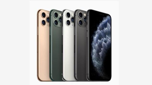 4 appareils iPhone 11 Pro.