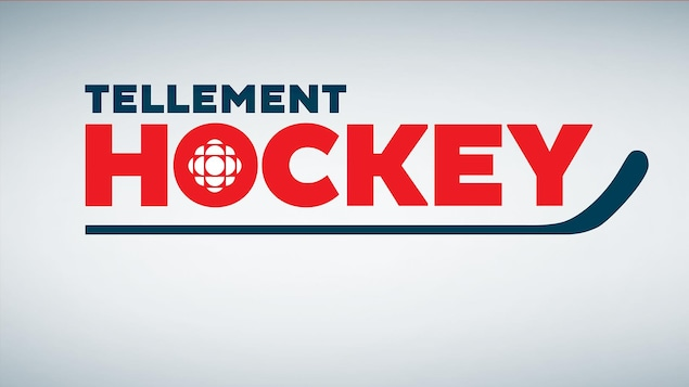 Le logo Tellement hockey avec un bâton de hockey bleu.