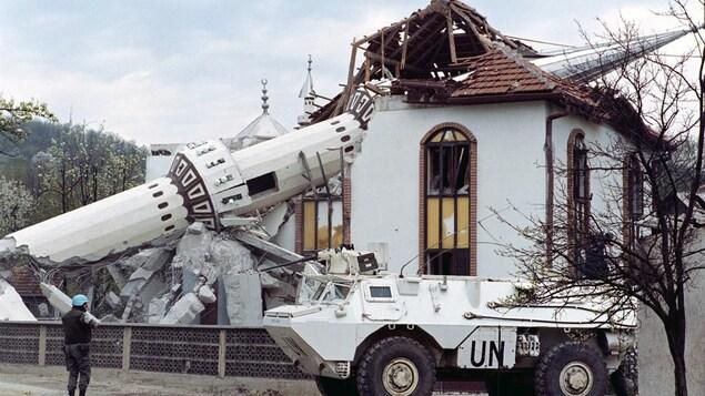 Un lieu de culte saccagé en ex-Yougoslavie