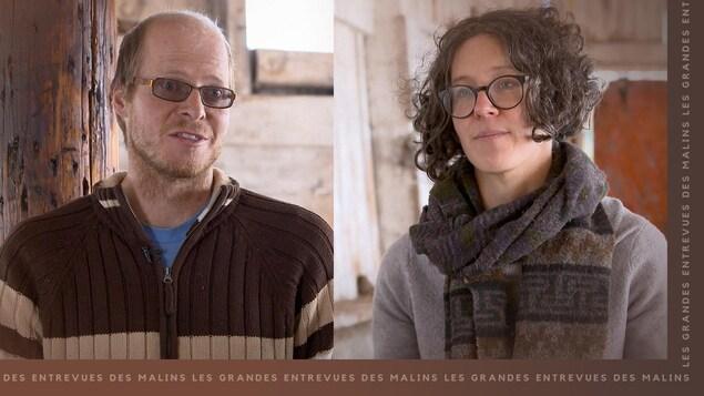 Les propriétaires de la Ferme Grazing Days, Paul Slomp et Josée Madéia Cyr-Charlebois.