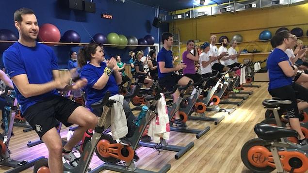 L'objectif des organisateurs du Grand Spin don, qui était de 30 000 $, a été dépassé.