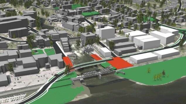 La maquette du projet Grandes-Fourches Nord