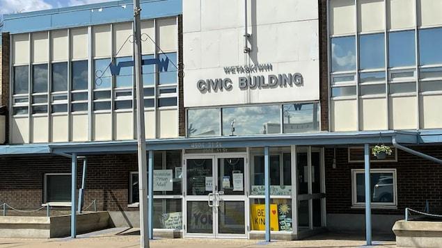 Façade du bâtiment municipal de Wetaskiwin