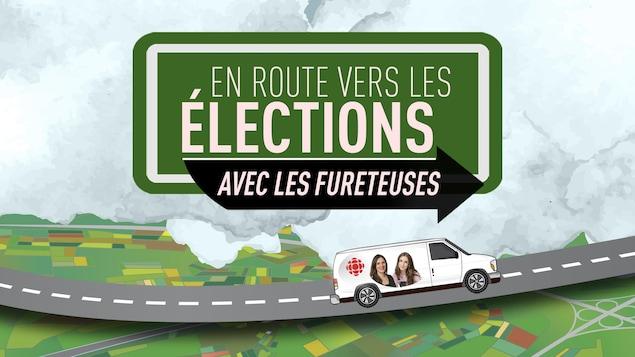 Le logo du projet « En route vers les élections avec les Fureteuse ».